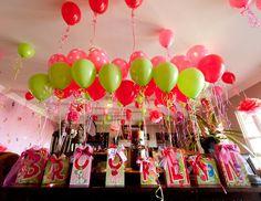 Strawberry Shortcake Balloon Birthday Party Centerpieces. Playpatterns.net