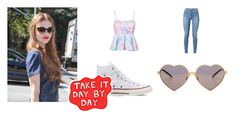 """""""really ?"""" by jessica-timotheo on Polyvore featuring moda, Converse, Wildfox e 7 For All Mankind"""
