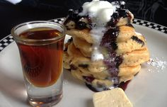 Always include brunch in your weekend plans. Sweet tooths love our Black and Blueberry Buttermilk Pancakes.