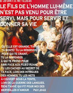 PAROLE - année  liturgique B (images et PAROLE...A - C..)blog S. Chiara   Maria SS. Consolata : B - 29 DIM.T.O.