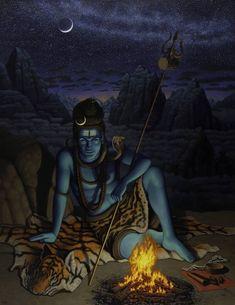 Original Classical mythology Painting by Robert B Porter Arte Shiva, Shiva Tandav, Shiva Parvati Images, Shiva Linga, Shiva Art, Ganesha Art, Hanuman Images, Krishna Art, Lord Shiva Statue