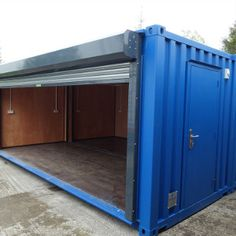 How to Build Your Own Shipping Container Garage – Modern Home Shipping Container Workshop, Shipping Container Conversions, Shipping Container Buildings, Shipping Container Design, Shipping Container Store, Container Restaurant, Container Cafe, Cargo Container, Container Home Designs