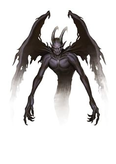 Demon, Shadow (from the fifth edition D&D Monster Manual). Art by Conceptopolis.