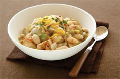 Southwestern White Chili recipe-                                 This dish shakes up your chili bowl with chicken and white beans, then sneaks in a little heat and tops it off with a sprinkle of cheese. #chilirecipes