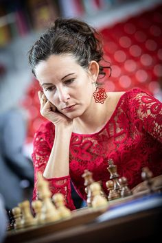 This game is from round 9 of the 2018 Batumi Chess Olympiad. It features Elizabeth Paehtz with White against Olga Dolzhikova with Black. Chess Players, Chess Pieces, Beauty Full, Girls Be Like, Beautiful World, Female, Lady, Scrabble, Slovenia