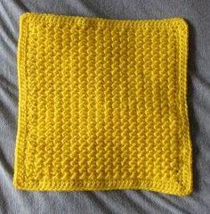 Moss Stitch 12″ Afghan Square – Free Crochet Pattern
