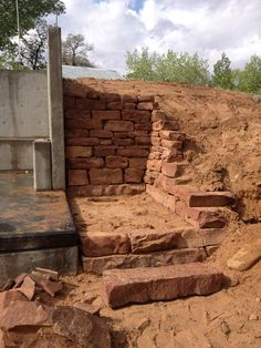 Stone wall in Moab For more info find us on facebook at Grow Wild nursery and landscape