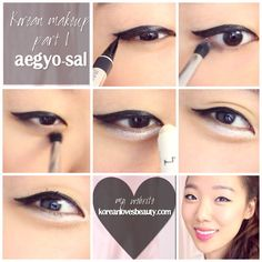 How to get Aegyo Sal (Korean Ulzzang Makeup) There's a video version of it too! : www.youtube.com/koreanlovesbeauty  Korean makeup tutorial , koreanlovesbeauty,