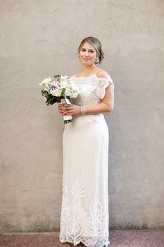 Nikki and Jasons New Orleans Wedding at The Chicory.......I LOVELOVELOVE the décolletage and sleeves.