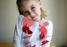 Heart paper lei - love these for an easy class activity.