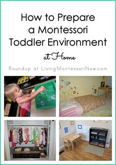 Lots of Montessori toddler resources, including examples of Montessori-friendly toddler home environments, helpful resources, and Montessori learning materials and activities for toddlers