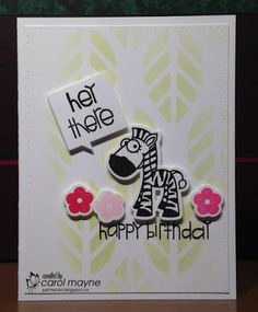 Just Me: c: Zebra Hey There...MUSE #126, Paper Smooches~Anything Goes, Crazy 4 Challenges~Happy