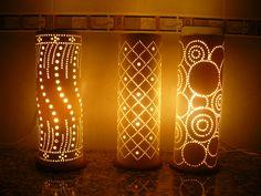 lamparas diseñadas en pvc