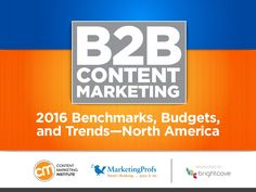 Our 6th annual content marketing research launches with our first of five main reports, B2B content marketing. Partnered again with MarketingProfs and sponsore…