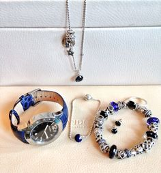 PANDORA Necklace, Watch and Bracelet Set in Stunning Blue!