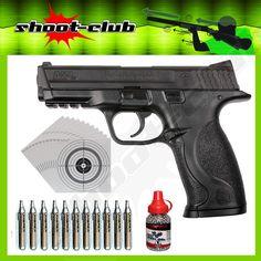 Smith&Wesson M&P 40 CO2-Pistole Kal. 4,5 mm - Set