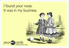found your nose!