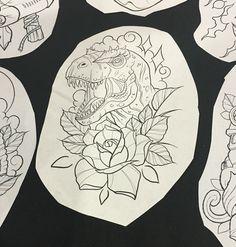 James Mullins tattoo dino