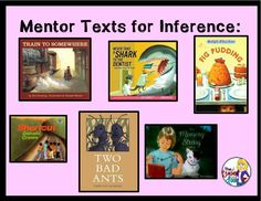 Great mentor texts for teaching inference.