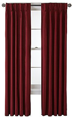 Royal Velvet Supreme Pinch-Pleat/Back-Tab Lined Curtain Panel