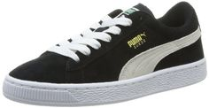Puma Suede Jr, Unisex-Kinder Sneakers, Schwarz (black-white 01), 31 EU (12 Kinder UK) - http://on-line-kaufen.de/puma/31-eu-puma-suede-unisex-kinder-sneakers-2