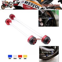 44.99$  Buy now - http://alitmw.worldwells.pw/go.php?t=32331005464 - Motorcycle For CBR1000RR 2006-2007 Front & Rear Axle Fork Crash Sliders Wheel Protector Red 44.99$