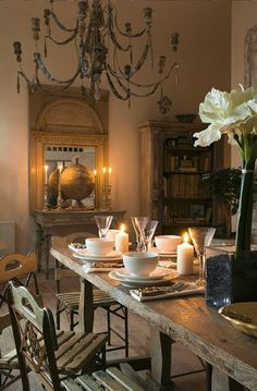 French Country Farmhouse Dining Inspiration