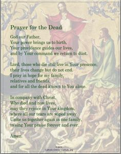 Prayers - Prayer for the Dead by Catholic Shopping .com | Catholic Shopping .com FREE Digital Download PDF