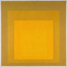 Josef Albers, 'Study for Homage to the Square: Departing in Yellow' 1964