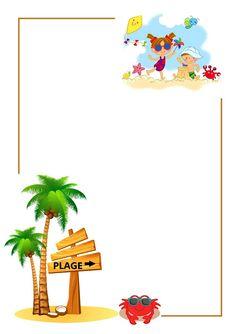fiche collage photo des loulous pour le cahier de vie mois de juillet