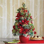 Fascinating Tabletop Christmas Trees is one of the most new, practical, interesting, useful and trendy way for the new Christmas decor. Tabletop Christmas Tree, Mini Christmas Tree, Tree Decorations, Christmas Decorations, Holiday Decorating, Decorating Ideas, Boxwood Tree, Snowflake Lights, Trees Online