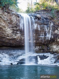 Hike Georgia's Cloudland Canyon State Park in winter for views of icy waterfalls and wide winter panoramas