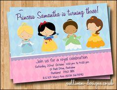 Classic Princess Party Invitation -  DIY PRINTABLE Digital Invitation. £5.00, via Etsy.
