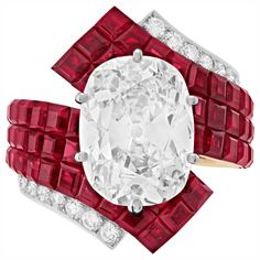 """""""Mysterious Cloth"""" Ring – White Gold, Red Gold, Set Mysterious Traditional Ruby, A Diamond D / IF Cushion of Carats, Diamonds # TrésorsDeRubis Source by thierrymartin Van Cleef Arpels, Garnet Jewelry, Diamond Jewelry, Diamond Pendant, Diamond Rings, High Jewelry, Luxury Jewelry, Or Rouge, Uncut Diamond"""