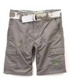 Little guys can craft a cool and casual look with these all-cotton shorts.
