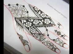 YouTube #new #creative #letter #henna #mehndi #design#tutorial
