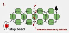 art, crafts and beads: Free Beading TUTORIAL - Marjan Bracelet