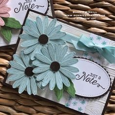 Daisy Delight Cards by bonniestamped.com #daisydelight #daisypunch #bonniestamped