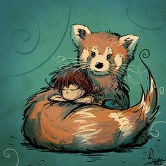 Panda roux, by Silver