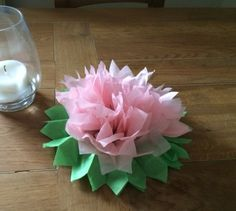Perfect to wrap onto a gift or to use as a pretty table decoration. Butterfly Birthday, Water Lilies, Tissue Paper, Event Planning, Craft Projects, France, Table Decorations, Pretty, Gifts