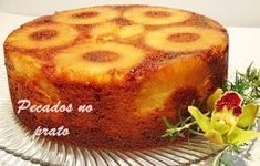 Portuguese # abacaxi Bolo úmido com . Other Recipes, My Recipes, Sweet Recipes, Cake Recipes, Cooking Recipes, Favorite Recipes, Bread Recipes, Portuguese Desserts, Portuguese Recipes