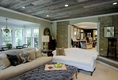 wood plank ceilings | ... rustic – aged wood plank ceiling!! A fabulous option to consider