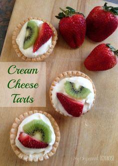 cream cheese tart recipe from Tammi Roy of My Organized Chaos @Tammi Nepia Nepia Nepia Nepia Nepia Nepia Roy #snack #treat #fruity