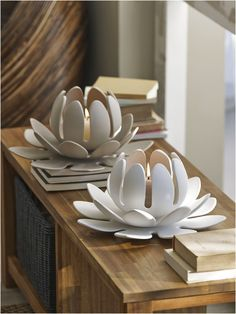 LOTUS - Photophore click now for info. Hand Built Pottery, Slab Pottery, Ceramic Pottery, Pottery Art, Thrown Pottery, Ceramics Projects, Clay Projects, Ceramic Clay, Ceramic Plates