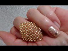 ANEL LOSANGO DE MIÇANGAS - YouTube Tutorial Anillo, Ring Tutorial, Beaded Rings, Beaded Jewelry, Jewelry Rings, Bead Crafts, Jewelry Crafts, Diy And Crafts, Beading Projects