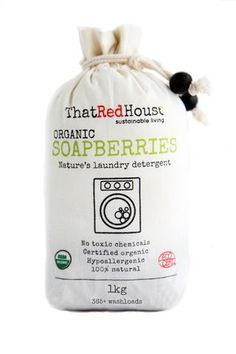 Økologisk og bæredygtigt vaskemiddel, genanvendelige sæbebær 1 kg - My Fair Shop
