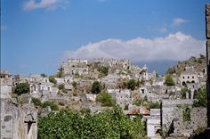 Ancient Greece villages were normally built on higher places and mountains