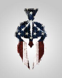 spartan helmet american flag tattoo - Google Search