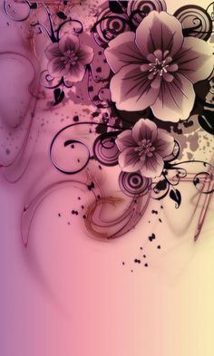 Download 480x800 «pink flowers» Cell Phone Wallpaper. Category: Art & Graphics