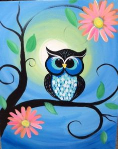 Owl #owlcanvaspainting